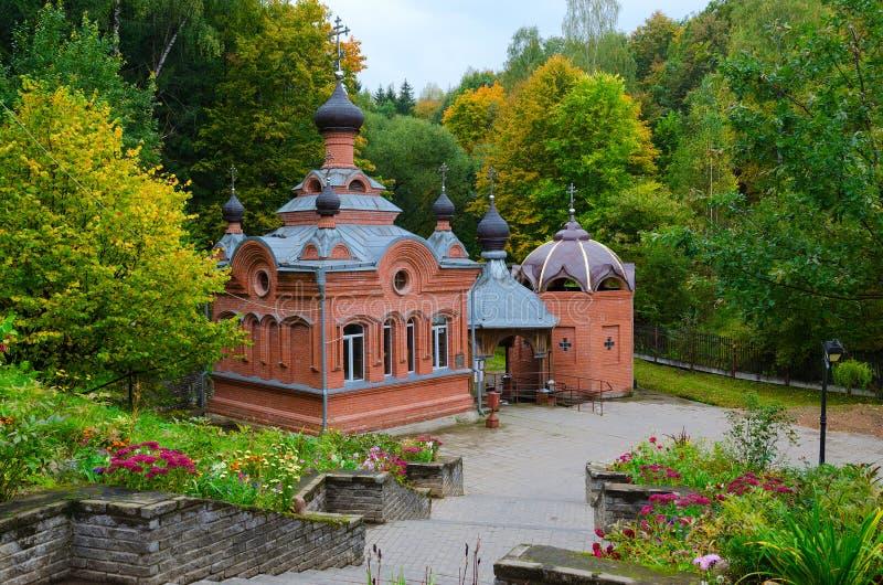 Kyrka-kapell av den heliga stora martyren Paraskeva, Polykovichskaya Kr arkivfoto