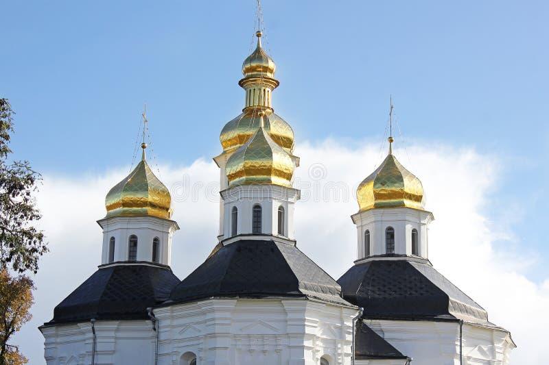 Kyrka Kupoler av kyrkan royaltyfri fotografi