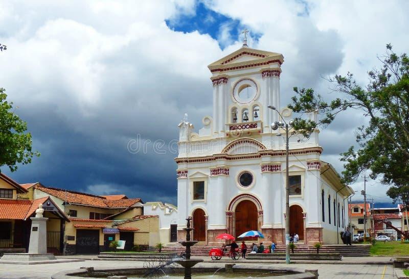 Kyrka La Virgen De Fatima i Cuenca, Ecuador royaltyfria foton