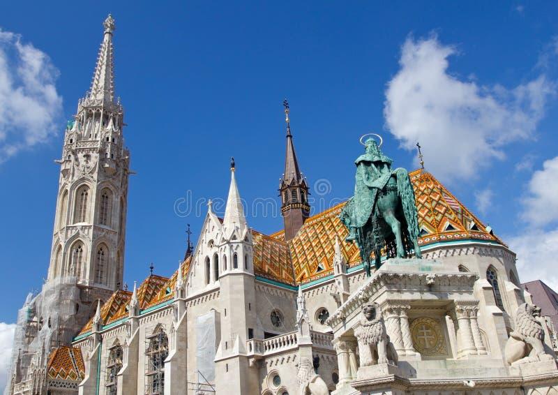 kyrka matthias för budabudapest slott royaltyfria bilder
