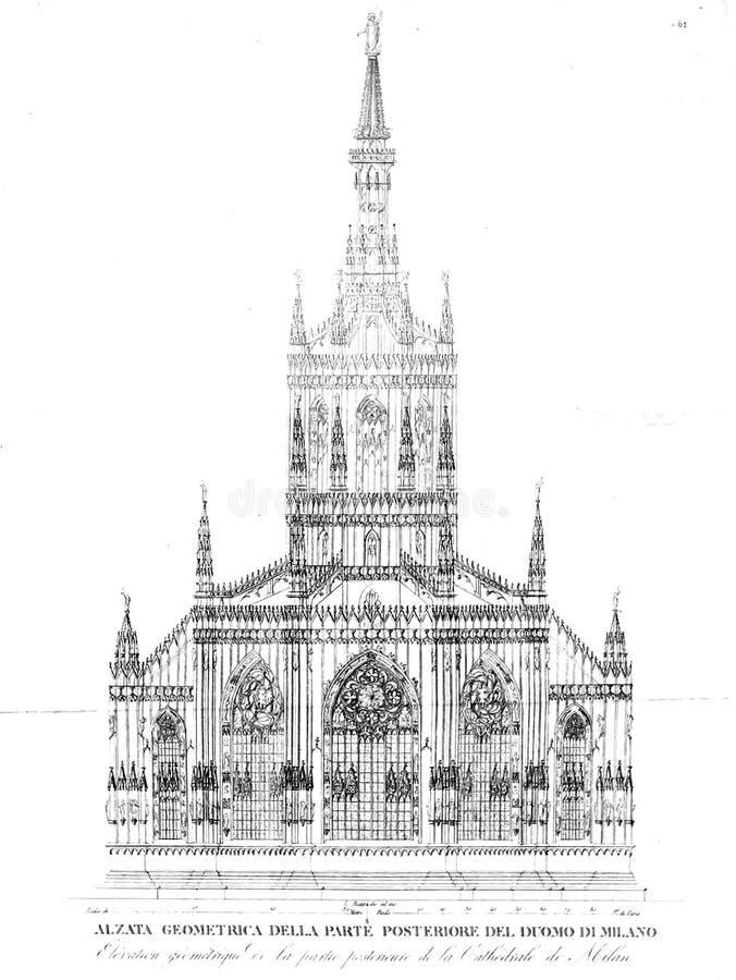 Kyrka och domkyrka stock illustrationer