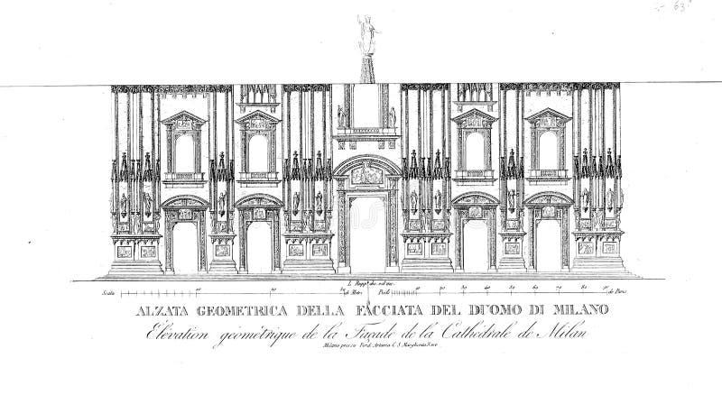 Kyrka och domkyrka royaltyfri illustrationer