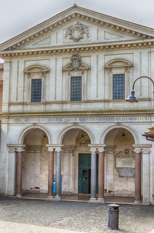 Kyrka och katakomber av San Sebastiano, Rome, Italien royaltyfria bilder