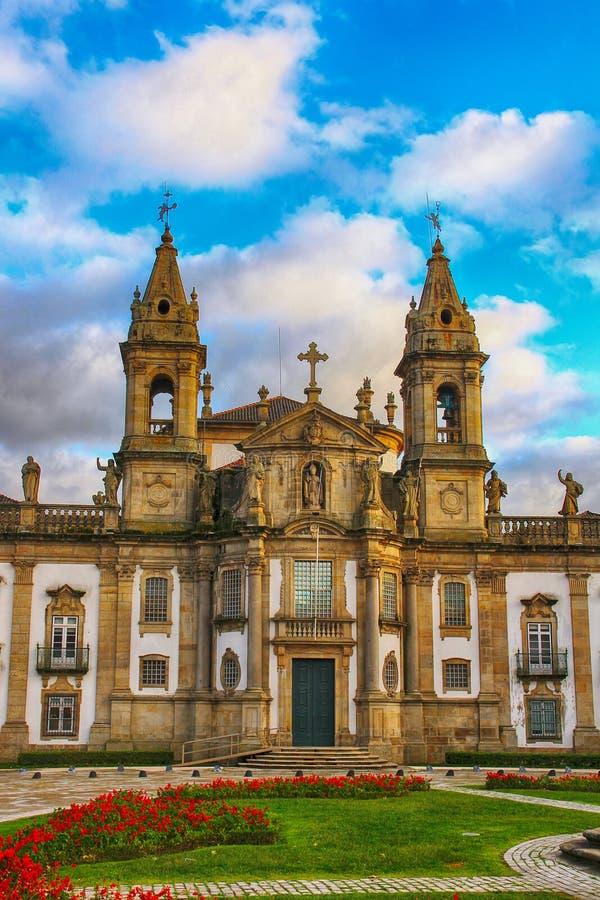 Kyrka och sjukhus av Sao Marcos, Braga, Portugal arkivfoto