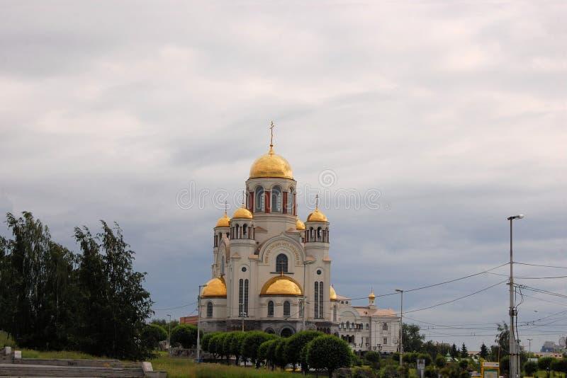 Kyrka på blod i Ekaterinburg, Ryssland arkivfoto