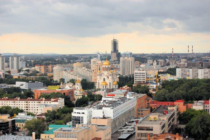 Kyrka på blod i Ekaterinburg, Ryssland royaltyfri fotografi