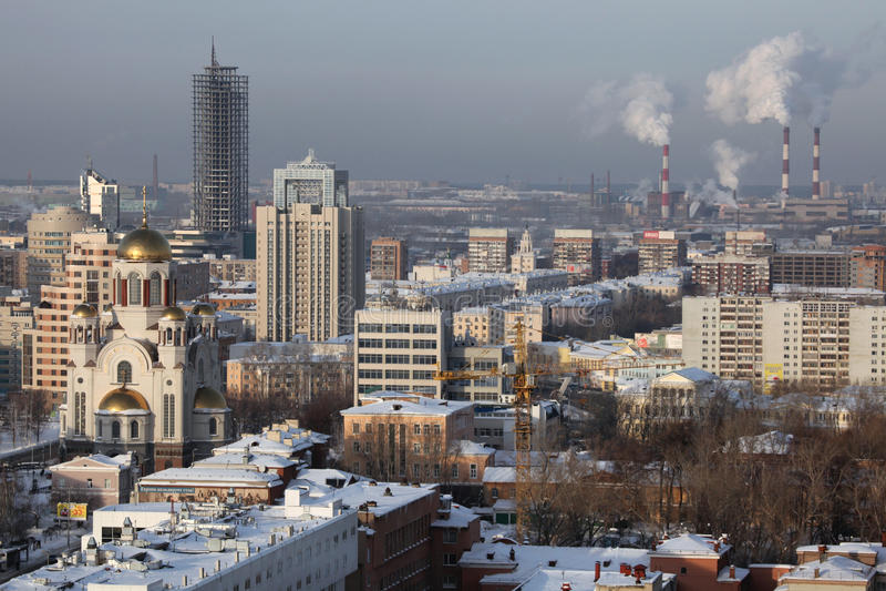 Kyrka på blodet i Yekaterinburg, Ryssland arkivbilder