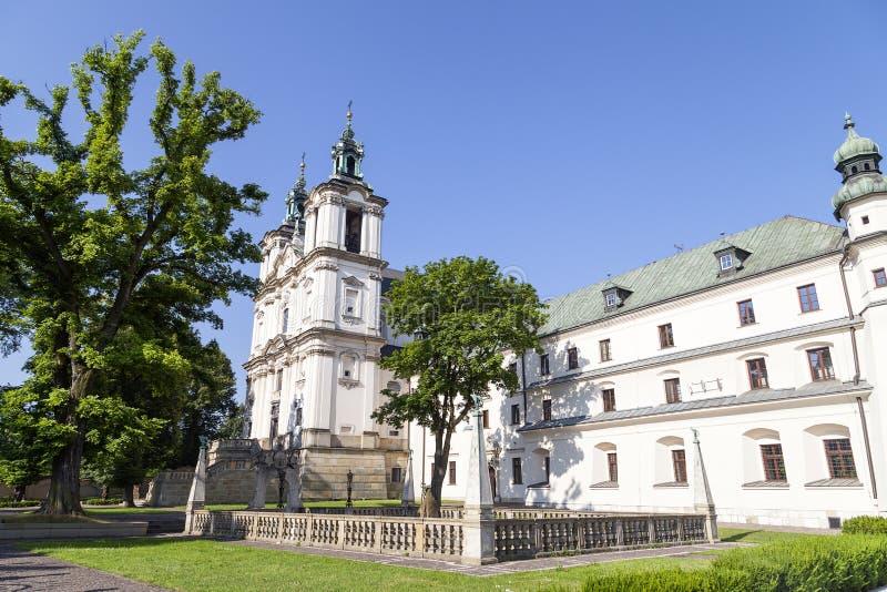 Kyrka på Skalka, Pauline Fathers Monastery, Krakow, Polen arkivbilder