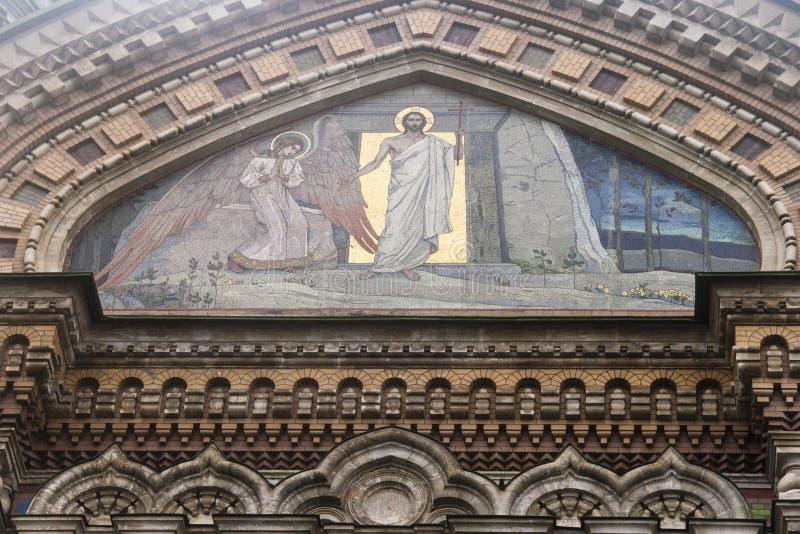 Kyrka på spillt blod i st-peterburg royaltyfri fotografi