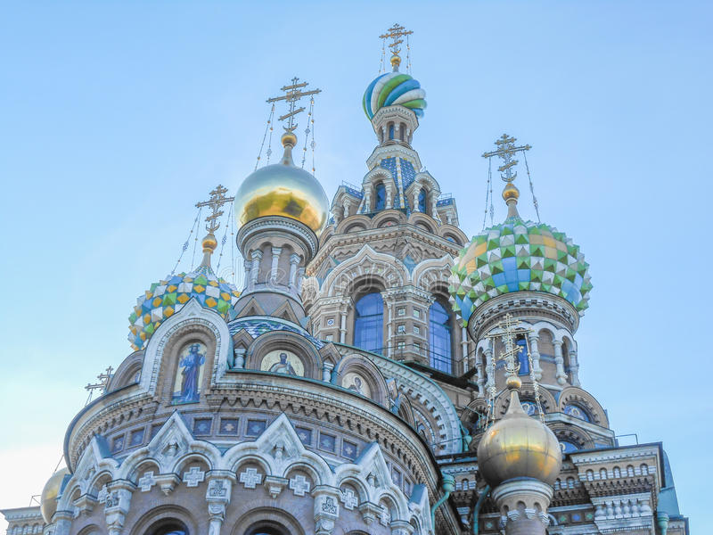 Kyrka på spillt blod i St Petersburg royaltyfri fotografi