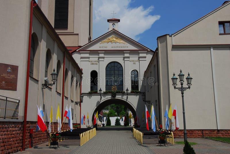 Kyrka Sanktuarium Matki Boskiej Ostrobramskiej arkivfoton
