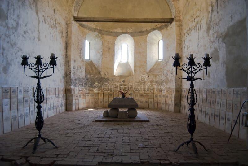 kyrka stärkt saxon royaltyfri foto