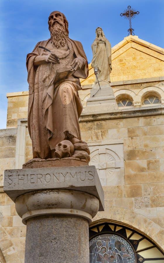 KyrkaBetlehem för St Jerome St Catherine Church Nativity Västbanken Palestina royaltyfri fotografi