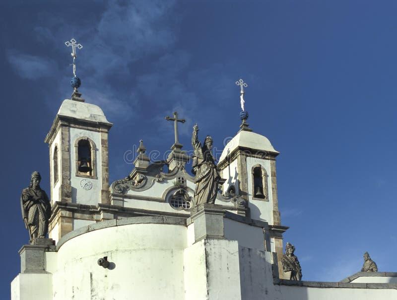 Kyrkan av Bom Jesus gör Matozinhos i Congonhas, tillstånd av minuten arkivfoton