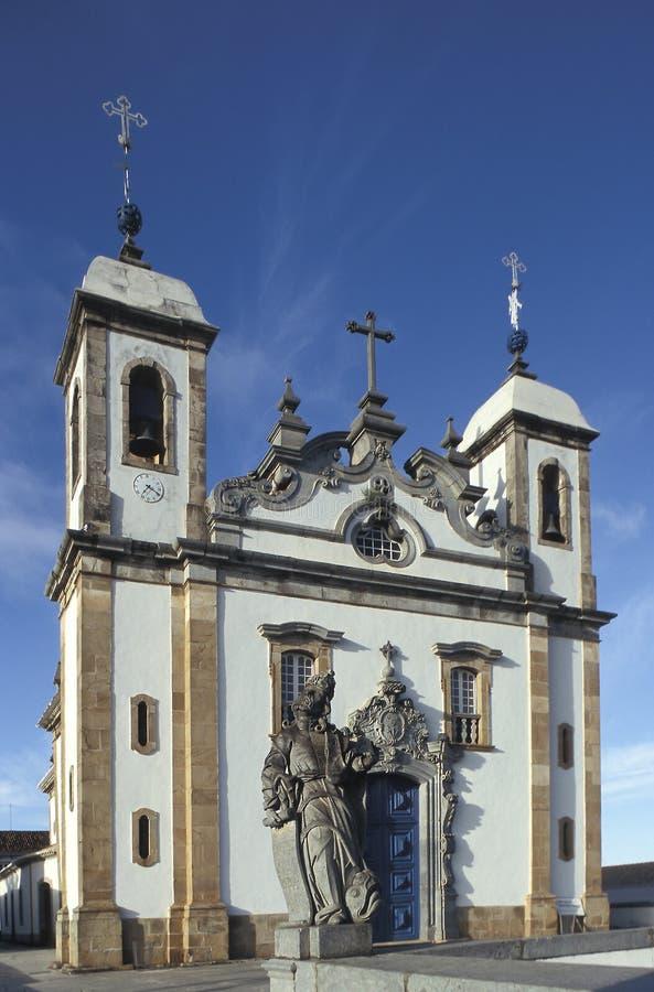 Kyrkan av Bom Jesus gör Matozinhos i Congonhas, tillstånd av minuten royaltyfria foton