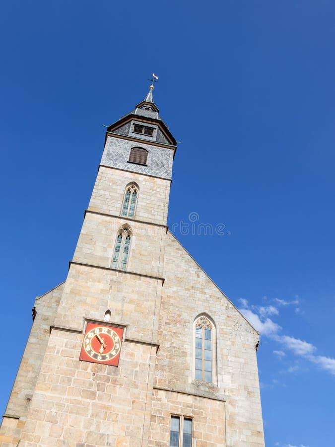 kyrkan av den Boeblingen Tyskland arkivfoto