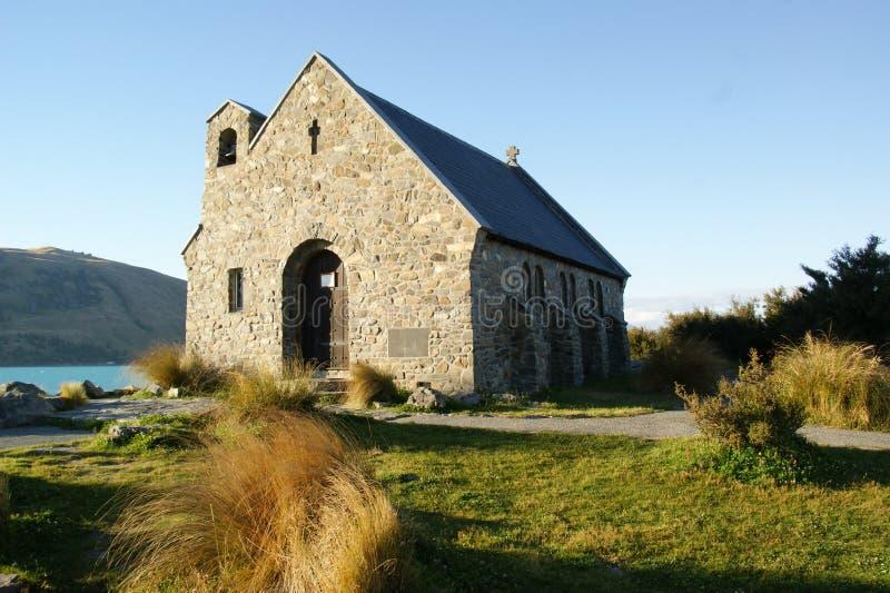 Kyrkan av den bra Shepard Tekapo arkivbilder