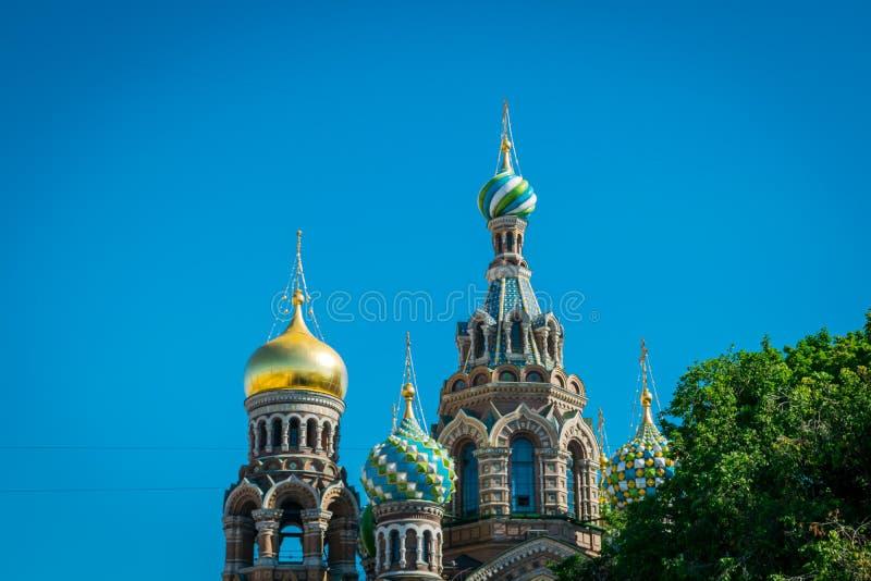 Kyrkan av frälsaren på spillt blod, St Petersburg, Ryssland arkivbilder