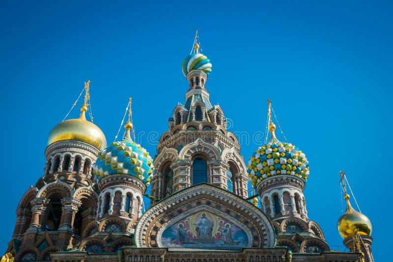 Kyrkan av frälsaren på spillt blod, St Petersburg, Ryssland arkivfoton