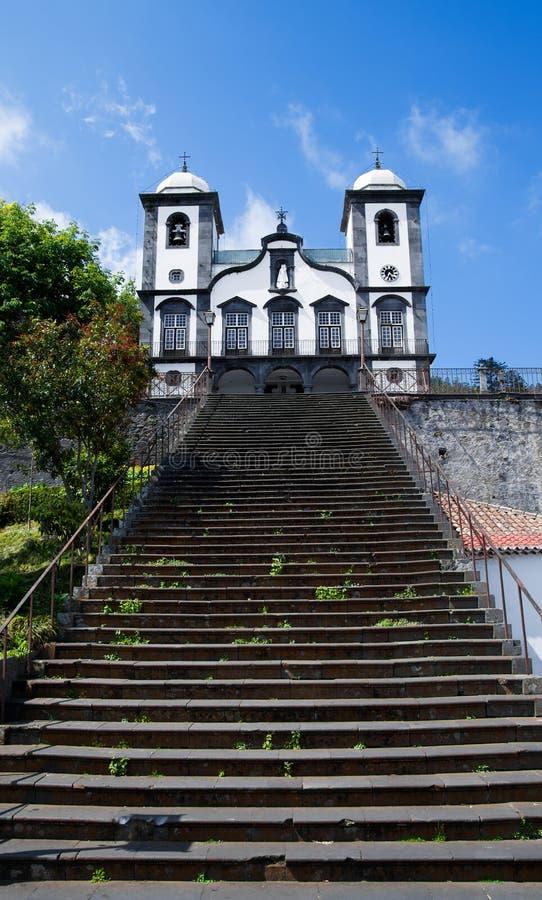 Kyrkan av Nossa Senhora gör Monte, madeira arkivbild