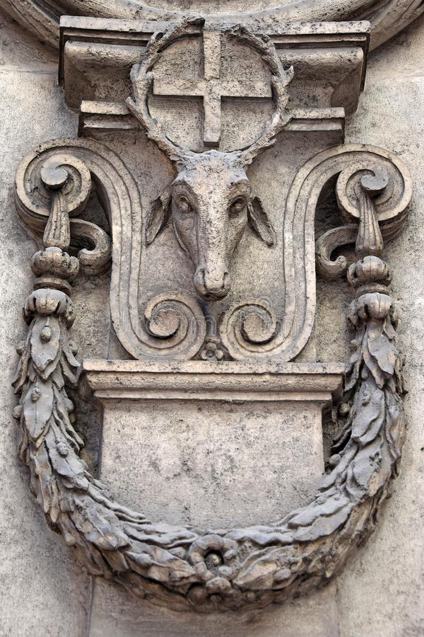 Kyrkan av San Carlo alle Quattro Fontane, kyrka av Rome, vid Francesco Borromini royaltyfri fotografi