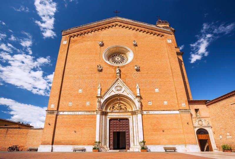Kyrkan av San Francesco, Tuscany, Siena, Italien arkivfoto