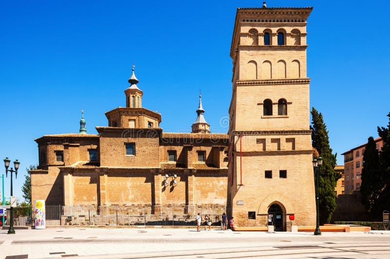 Kyrkan av San Juan de los Panetes och Zuda står högt arkivbild