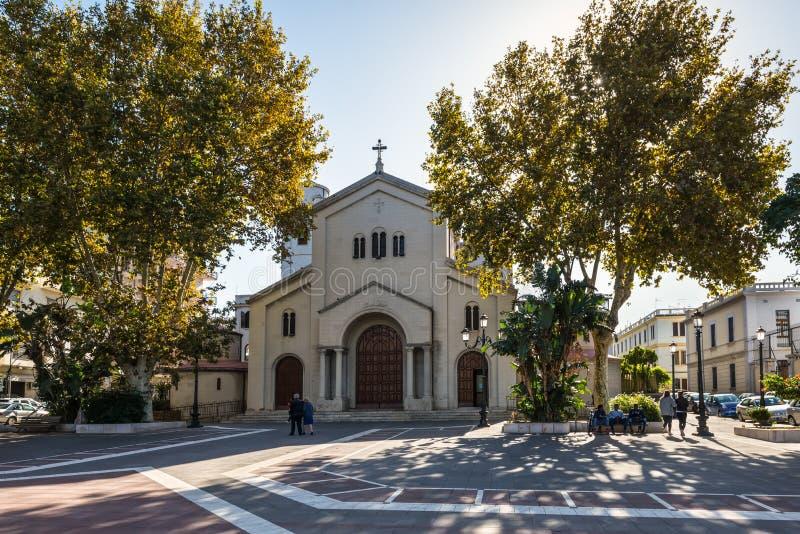 Kyrkan av Sant 'Agostino i Reggio Calabria, Italien royaltyfria bilder