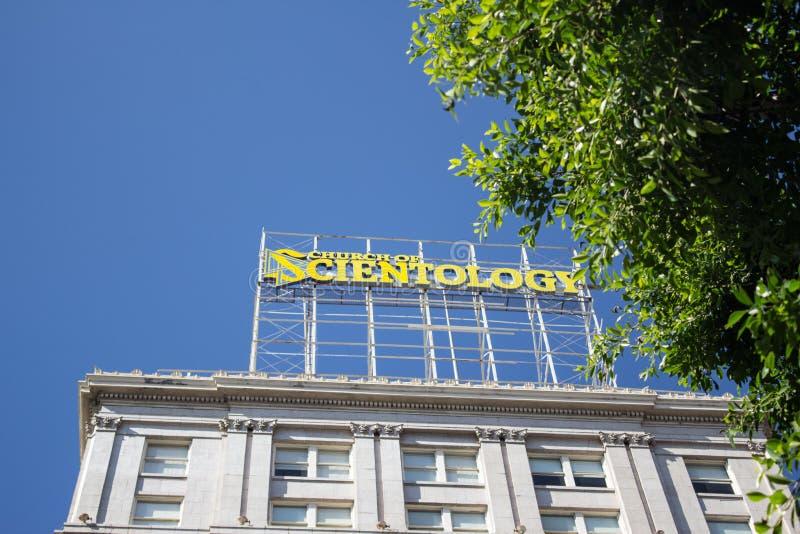 Kyrkan av scientologyen royaltyfri fotografi