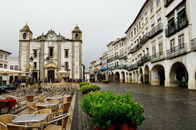 Kyrkan av St Anton, Evora, Portugal royaltyfria foton