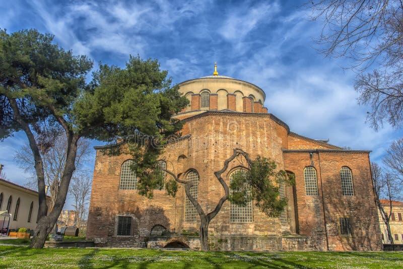 Kyrkan av St Irene - en av tidigast fortleva kyrktar arkivbilder