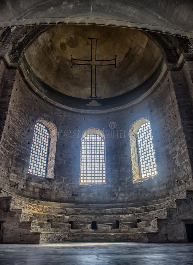 Kyrkan av St Irene - en av tidigast fortleva kyrktar arkivbild