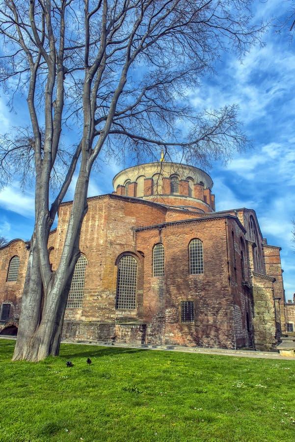 Kyrkan av St Irene - en av tidigast fortleva kyrktar royaltyfri foto