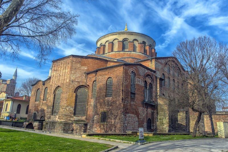 Kyrkan av St Irene - en av tidigast fortleva kyrktar royaltyfri bild