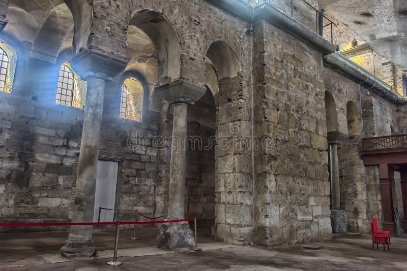 Kyrkan av St Irene - en av tidigast fortleva kyrktar arkivfoto
