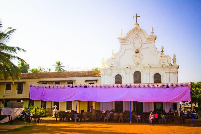 Kyrkan av St Jerome, Mapusa, Goa, Indien royaltyfri bild