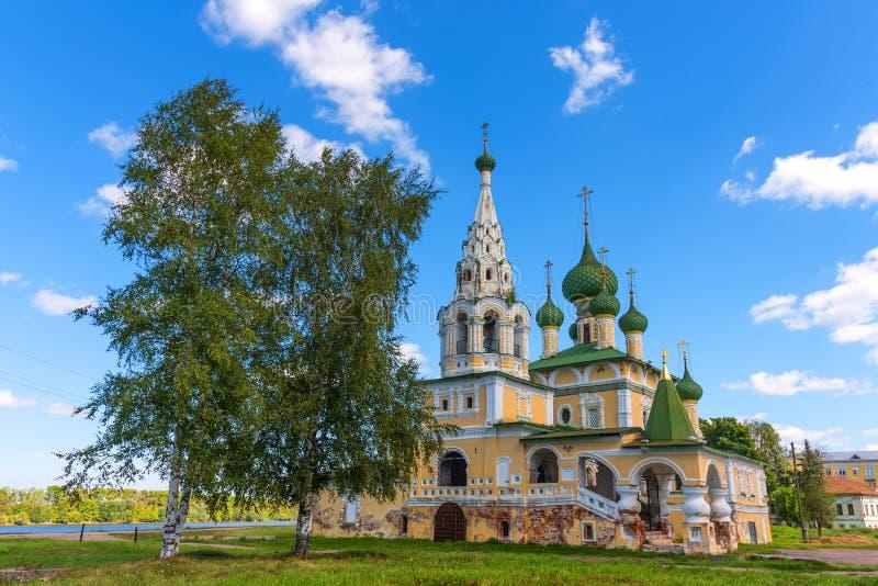 Kyrkan av St John The Baptist i Uglich, Ryssland arkivbilder