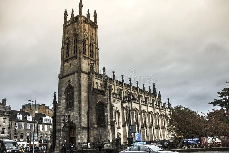 Kyrkan av St John evangelisten Edinburgh, Skottland royaltyfria foton