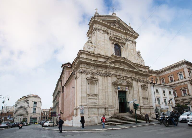Kyrkan av St Mary av Victory Santa Maria della Vittoria arkivfoto