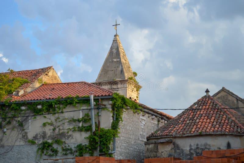 Kyrkan av St Philip i Makarska, Dalmatia, Kroatien på Juni 16, 2019 royaltyfria foton