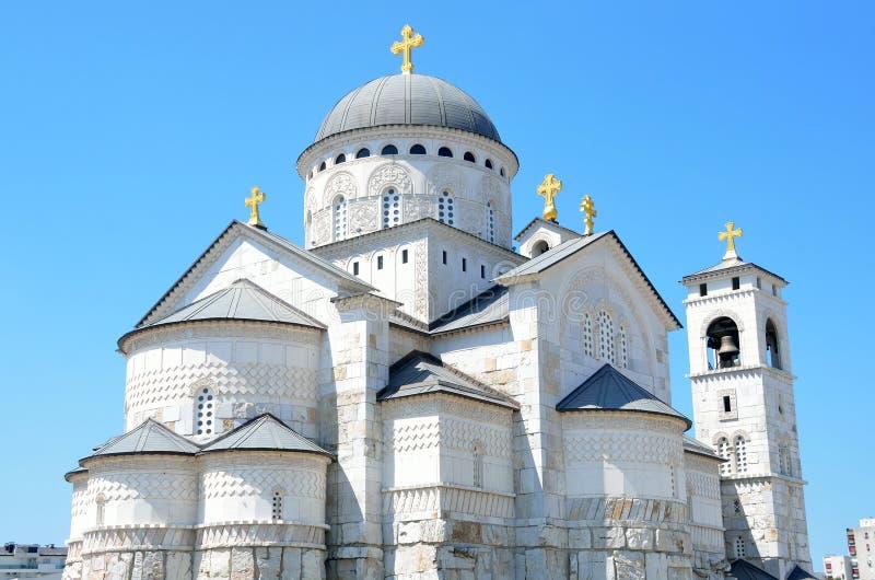 Kyrkan av uppståndelsen i Podgorica, Montenegro arkivfoton
