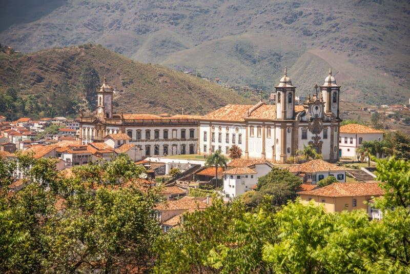 Kyrkan av vår dam av Mount Carmel, Ouro Preto - Brasilien arkivfoto
