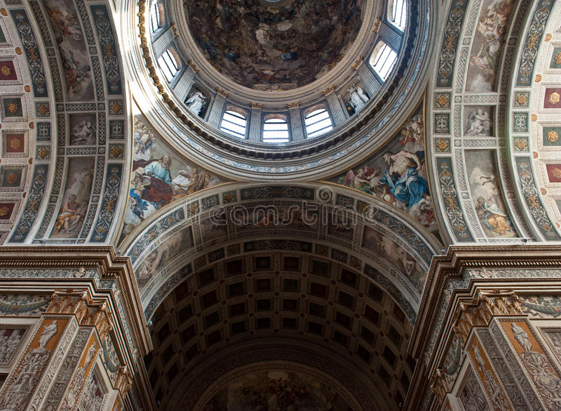 kyrkan details mantua royaltyfria foton