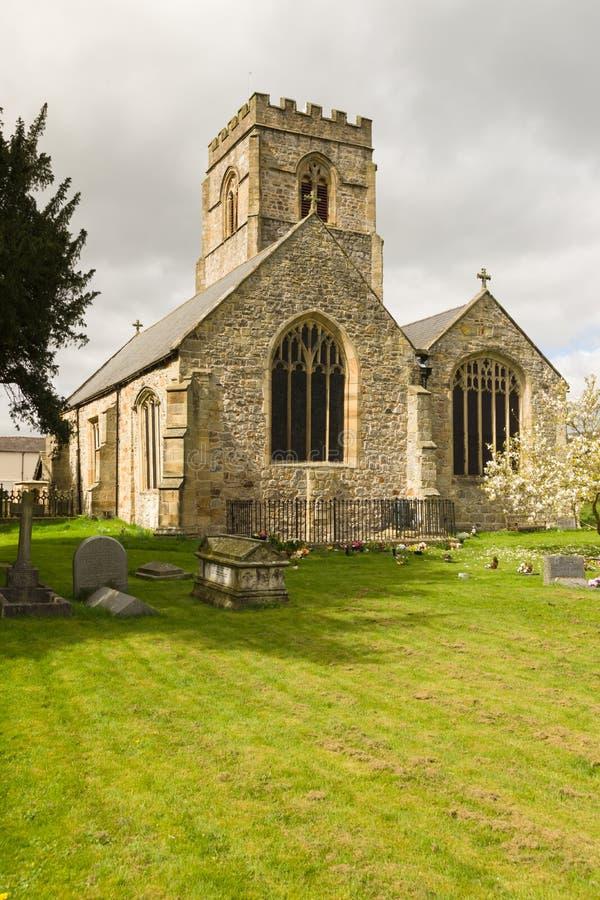 Kyrkan för den helgonMarys församlingen Chirk fotografering för bildbyråer