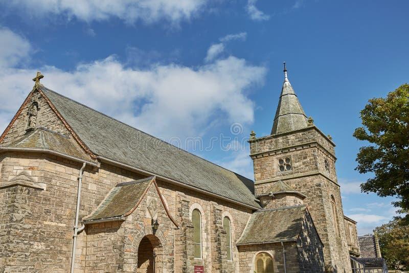 Kyrkan för helig Treenighet i St Andrews, Skottland, en berömd historisk kyrka som är bekant för den, är anslutning till John Kno fotografering för bildbyråer