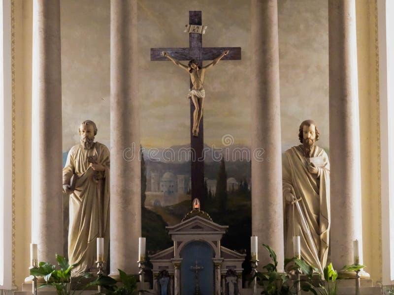 Kyrkan för St Marias konstruerades på början av århundradet XIV (â 1250 1350), och utfört in utforma av en gotisk tegelsten utfor arkivbild