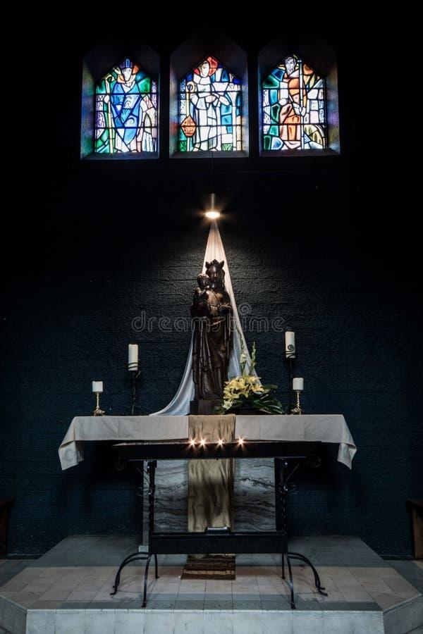 Kyrkan för St Marias konstruerades på början av århundradet XIV (â 1250 1350), och utfört in utforma av en gotisk tegelsten utfor arkivfoton