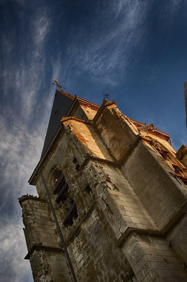 Kyrkan från världskrig II royaltyfria bilder