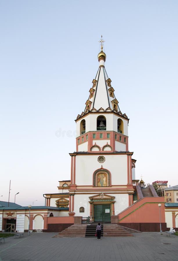 Kyrkan i Irkutsk, ryssfederation royaltyfri foto