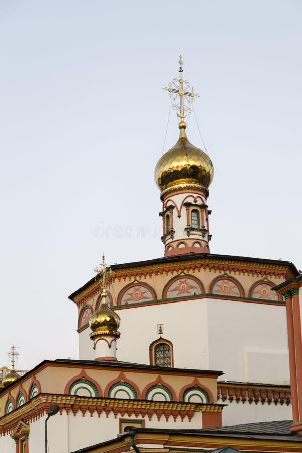 Kyrkan i Irkutsk, ryssfederation royaltyfria bilder